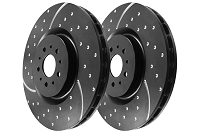 12-17 F150 & Raptor EBC GD Slotted & Dimpled Manual Rear Rotors