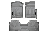 2009-2014 F150 & Raptor SuperCab Husky WeatherBeater Front & Rear Floor Mats (Grey)