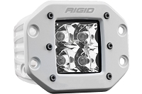 Rigid D-Series Pro Flush Mount White Spot Beam Light (White Housing)