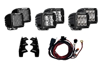 2017-2018 Raptor Rigid Industries Complete Raptor Triple Fog Light Bucket Kit
