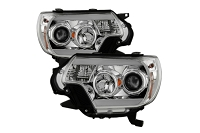 2012-2015 Tacoma SPYDER Light Bar DRL Projector Headlights (Chrome)