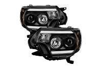 2012-2015 Tacoma SPYDER Light Bar DRL Projector Headlights (Black)