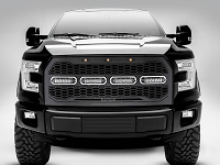2015-2017 F150 T-Rex Revolver Series Upper Grille with Light Bars (No Front Camera)