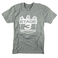 Stage 3 Motorsports Grey Logo T-Shirt