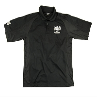 Stage 3 Motorsports Black Polo with Silver Stage 3 Shield Logo