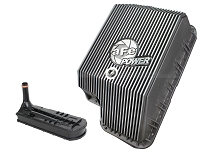 2003-2010 F250 & F350 6.0L & 6.4L aFe Raw Transmission Pan (F5R110 & F5R110W Only)