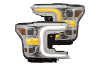 2018-2019 F150 ANZO Plank Style Switchback Projector Headlights (Chrome Housings)