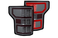 2018-2019 F150 ANZO DRL Outline LED Taillights (Chrome with Smoked Lens)
