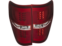 2009-2014 F150 & Raptor ANZO G2 LED Taillights (Red Lens)