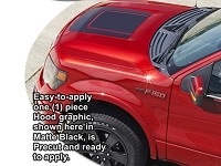 2004-2014 F150 ATD Tremor Style Hood Enhancement Graphic Kit