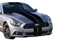 2015-2017 Mustang Fastback ATD Rally Stripe Graphic Kit (No Stock Spoiler or XM)