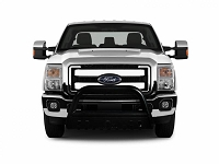 2011-2016 F250 & F350 Black Horse Off-Road Black Bull Bar w/ Black Skid Plate