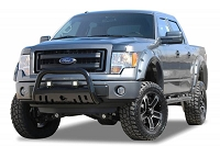 2004-2018 F150 Black Horse Bull Bar with Skid Plate (Black)