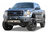 2004-2018 F150 Black Horse Bull Bar with Skid Plate (Black w/ Stainless Skid Plate)