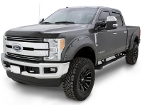 2017-2019 F250 & F350 Bushwacker Pocket-Style Fender Flares (4 pc. - Magnetic Metallic)