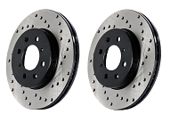 2011-2014 Mustang GT StopTech Cross-Drilled Front Rotor Set