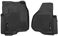 2011-2016 F250 & F350 SuperCrew/SuperCab Husky X-Act Contour Front Floor Mats (Black)