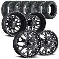2005-2017 F350 Dually Fuel FF19 28x8.5 & 305/30R28 Wheel / Tire Package