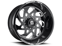 1999-2020 F250 & F350 Fuel Forged FF40-8 22X14 Wheel - Black & Milled
