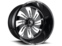 1999-2019 F250 & F350 Fuel Forged FF46 26X16 Wheel - Black & Milled
