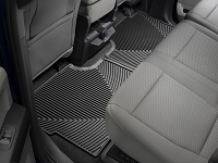 2017-2019 F250 & F350 SuperCrew WeatherTech All-Weather Rear Floor Mats (Black)