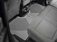 2017-2019 F250 & F350 SuperCrew WeatherTech All-Weather Rear Floor Mats (Gray)
