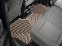 2017-2019 F250 & F350 SuperCrew WeatherTech All-Weather Rear Floor Mats (Tan)