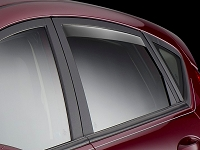 2012-2017 Fiesta WeatherTech In-Channel Rear Side Window Deflectors (Smoke)