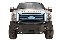 2011-2016 F250 & F350 Fab Fours Front Winch Bumper w/ Pre-Runner Grille Guard