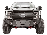 2017-2019 F250 & F350 Fab Fours Premium Winch-Ready Front Bumper with Full Grille Guard