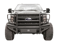 2017-2019 F250 & F350 Fab Fours Black Steel Elite Series Front Bumper with Full Grille Guard