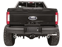 2017-2019 F250 & F350 Fab Fours Black Steel Elite Rear Sensor Bumper
