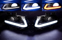2013-2016 Fusion Drive Bright LED Daytime Running Light & Turn Signal Kit (With Factory Fog Lights)