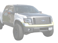 2009-2014 F150 Fiberwerx Front Bumper Valance (For Off-Road Fenders)