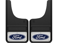 99-20 F-Series GatorBack Polished Ford Logo Front Mud Flaps