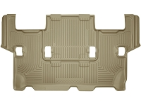 2012-2016 Ford Expedition Husky WeatherBeater 3rd Row Floor Mats (Tan)