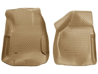 2000-2007 F250 & F350 Husky Classic Style Front Floor Mats (Tan)