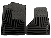 1999-2010 F250 & F350 Husky Heavy-Duty Front Floor Mats (Black)