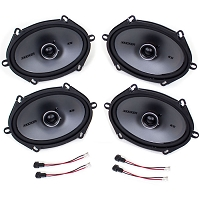2010-2018 Taurus Kicker KSC68 6x8 Door Speaker Upgrade Kit