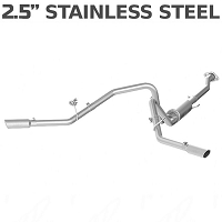 2009-2011 F150 MBRP Exhaust System - Cool Duals Cat Back, Split Side Rear -- XP Series (Stainless)