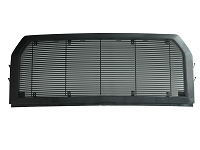 2015-2017 F150 Packaged Horizontal Black Billet Upper Grille with Gloss Black Shell