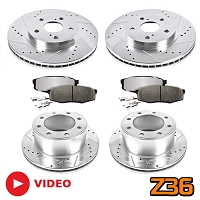2013-2018 F250 & F350 4WD Power Stop Z36 Truck & Tow Complete Brake Kit