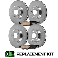 2011-2014 Mustang V6 Power Stop Z16 OE Replacement Brake Kit
