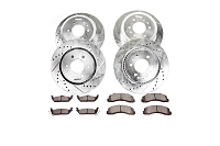 2005-2010 F350 4WD Dually Power Stop Z36 Truck & Tow Front & Rear Brake Kit