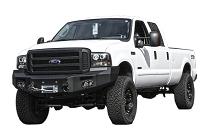 2005-2007 F250 & F350 Fab Fours Front Winch Bumper