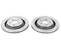 2015-2017 Mustang EcoBoost & V6 Power Stop Evolution Drilled and Slotted Front Rotors