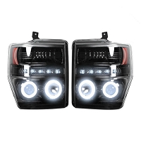 2008-2010 F250 & F350 Recon Projector Headlights (Black CCFL)