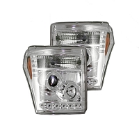 08-10 Super Duty Recon Projector Headlights w/ CCFL Tech (Clear/Chrome)