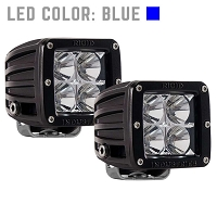Rigid Industries Dually LED Light - Blue - Flood - Pair