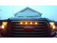 2016-2017 F150 with Lariat Special Edition Grille Custom Auto Works Raptor Style LED Amber Grille Light Kit
